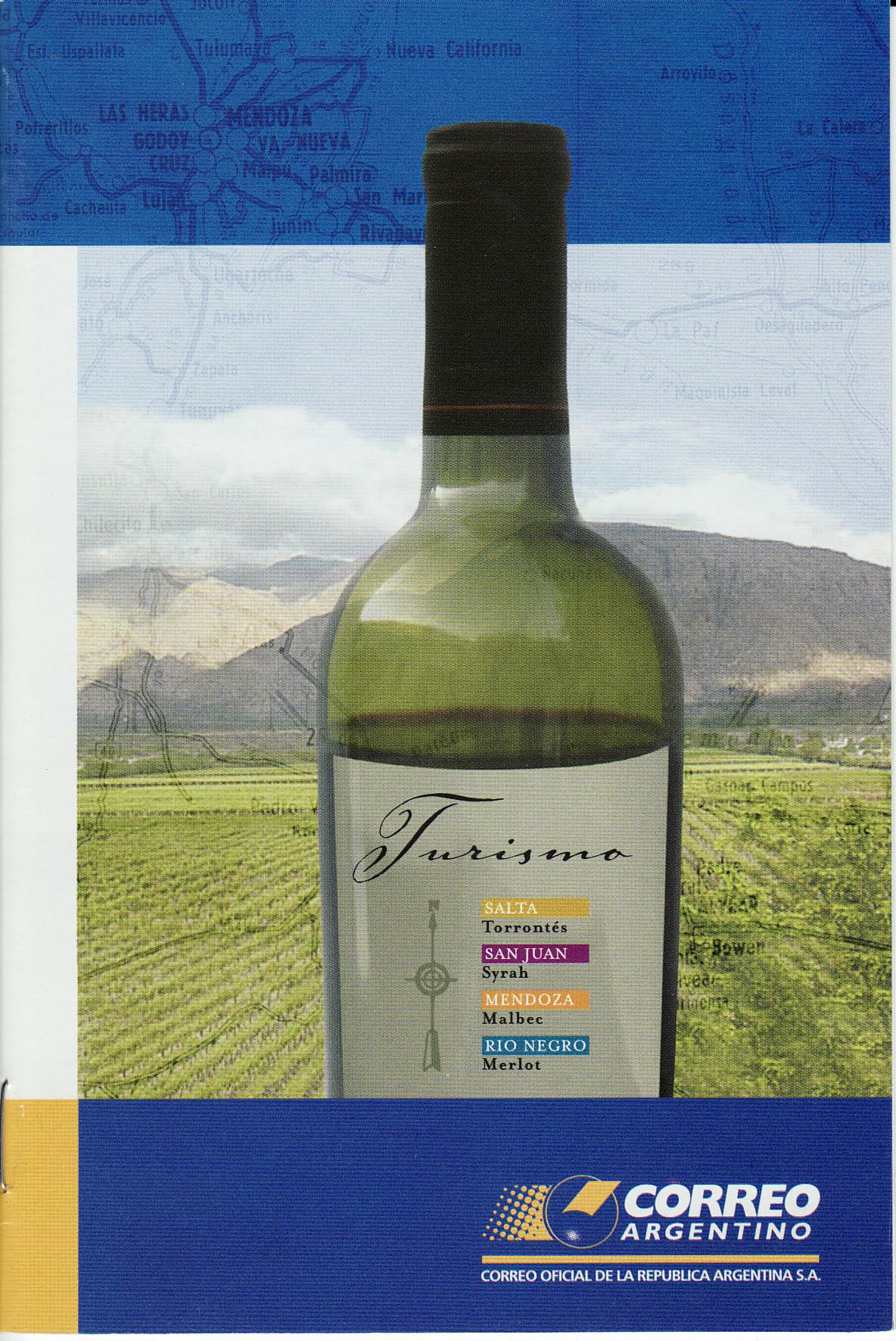 Argentna Wine stamp booklet from post office