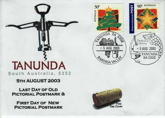 Australia Wine Cork and Cork Screw First Day Cover