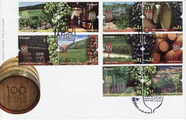 Portugal Wine and Grape First Day Cover